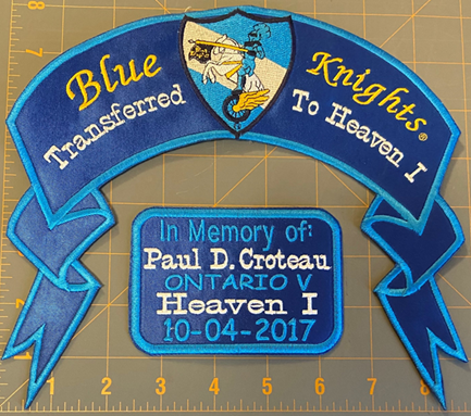 Heaven I Rocker and Heaven I Memorial Patch